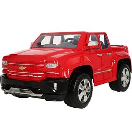 Rollplay Rollplay 12V Chevy Silverado Kid's Truck, Two-Seat Ride On Toyup to 5 mph - Battery-Powered Kid's Car - Ages 3 & Up - Red