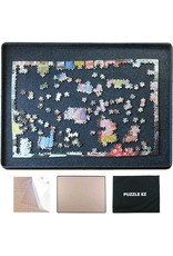 PUZZLE EZ Jigsaw Puzzle Board for 1000 Piece Portable with Cover for Adults Large Lightweight Puzzle Table Top Felt Puzzle Tray Board Plateau Accessories Flipper Hanging Kit Gift for Puzzle Lover
