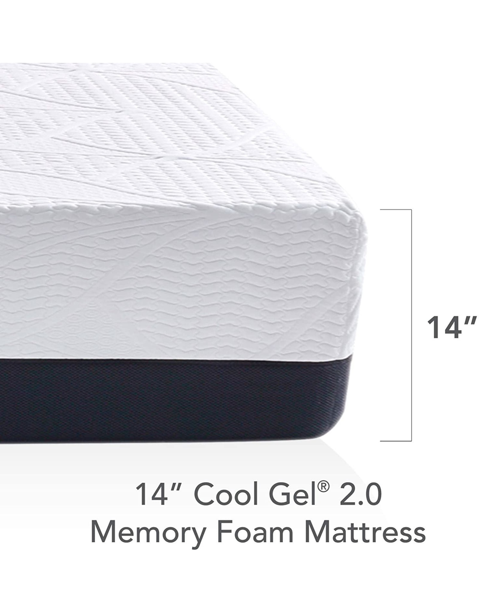 Classic Brands Classic Brands Cool Gel Chill Memory Foam 14-Inch Mattress with 2 BONUS Pillows CertiPUR-US Certified Bed-in-a-Box, Queen