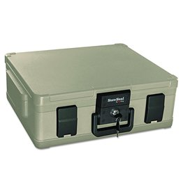 FireKing SureSeal by FireKing SS104-A 1 Hour Fireproof Waterproof Safe Chest, Fits Legal/Letter Sized Documents,0.38 CU FT Storage Capacity,Taupe