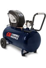 Campbell Hausfeld Air Compressor, Portable, Horizontal, 20 Gallon, Oil-Free, 4 CFM  90 PSI, 150 PSI (Campbell Hausfeld DC200000),Blue