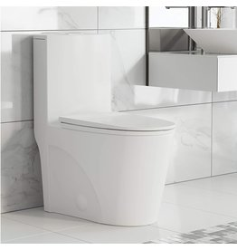 Swiss Madison Well Made Forever Swiss Madison Well Made Forever SM-1T254 St. Tropez One Piece Toilet, 26.6 x 15 x 31 inches, Glossy White