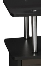Convenience Concepts Convenience Concepts Designs2Go TV Stand with 3 Cabinets, Black
