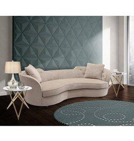 Armen Living Armen Living Palisade Sofa in Sand Fabric and Black Wood Finish