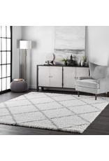 nuLOOM nuLOOM Tess Cozy Soft & Plush Modern Area Rug, 12' x 15', White