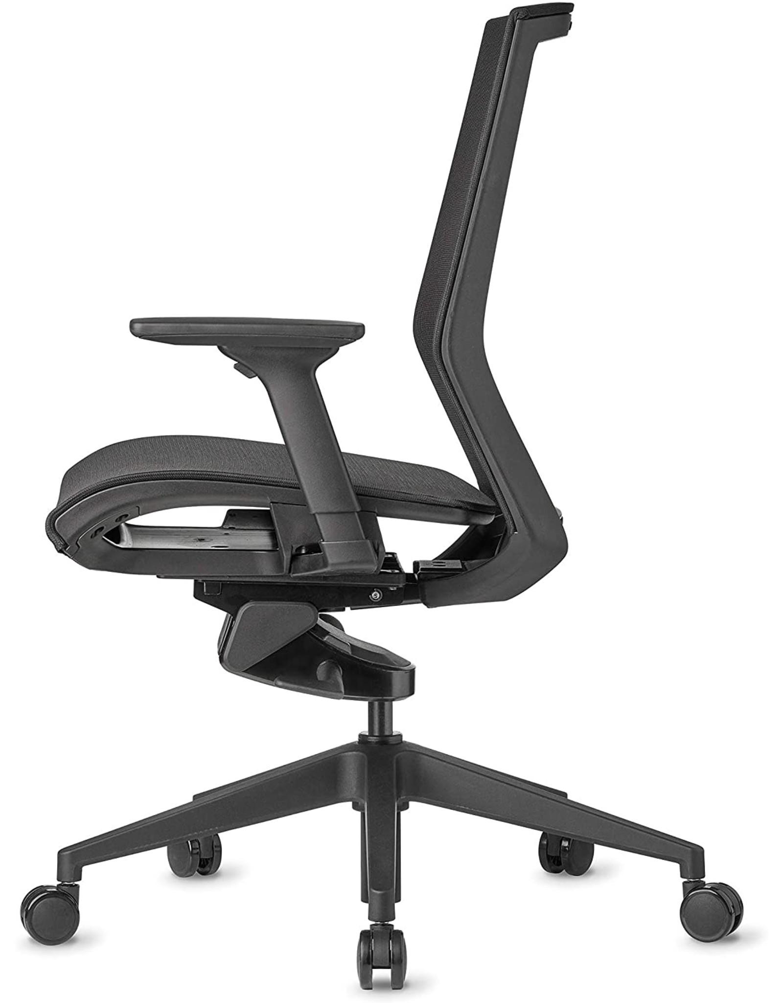 AMQ AMQ ZILO Ergonomic Office Chair, Black/Mesh Seat