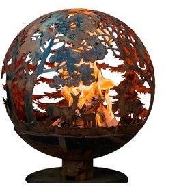 Esschert Design Esschert Design FF1012 Wildlife Fire Sphere, Rust Metal Finish - X Large
