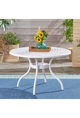 Christopher Knight Home Christopher Knight Home 305134 Simon Outdoor Aluminum Round Dining Table, White