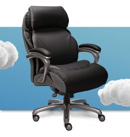 Serta Serta Big and Tall Executive Office Chair with AIR Technology and Smart Layers Premium Elite Foam, Supports up to 400 Pounds, Bonded Leather - Black