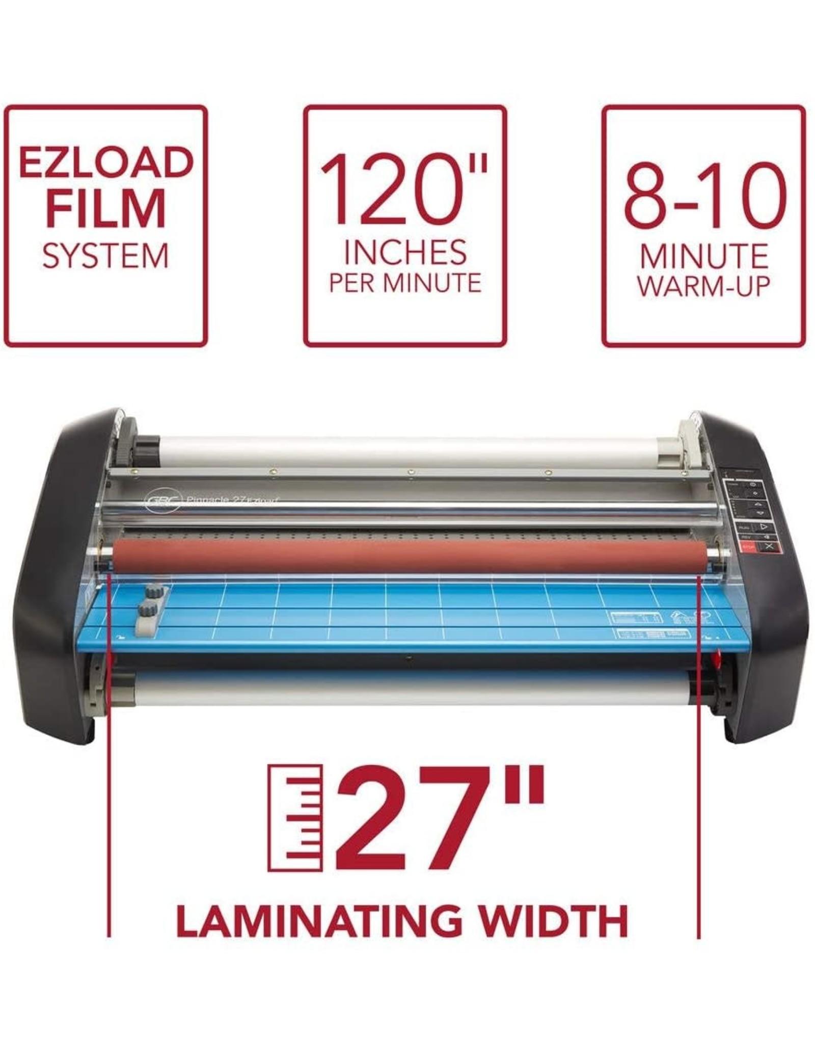 """GBC GBC HeatSeal Pinnacle 27 EZ Load Thermal Roll Laminator, 27"""" Max. Width, 8-10 Min Warm-Up (1701720EZ)"""