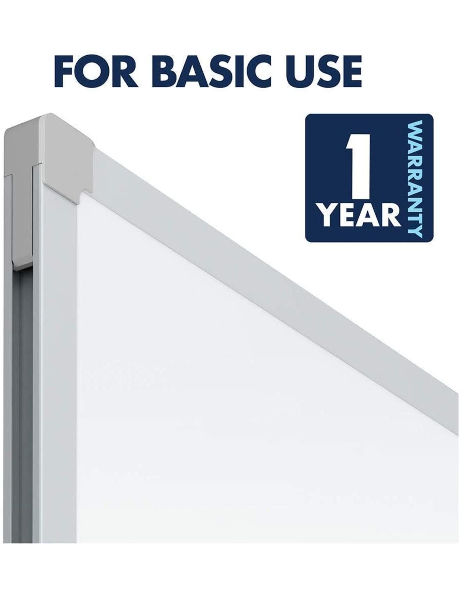 Mead Mead Dry Erase Board, Whiteboard / White Board, 24 x 18 Inches, Silver Finish Aluminum Frame (85355)