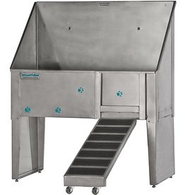 GROOMER'S BEST GROOMER'S BEST Walk-Through Bathing Tub with Left Plumbing and Right Ramp, 48-Inch