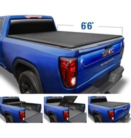 """Tyger Auto Tyger Auto T3 Soft Tri-Fold Truck Bed Tonneau Cover Compatible with 2019-2021 Chevy Silverado/GMC Sierra 1500 New Body Style  Fleetside 6'6"""" Bed  TG-BC3C1054"""