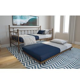 DHP DHP Manila Metal Twin Size Daybed and Twin Size Trundle (Gold)