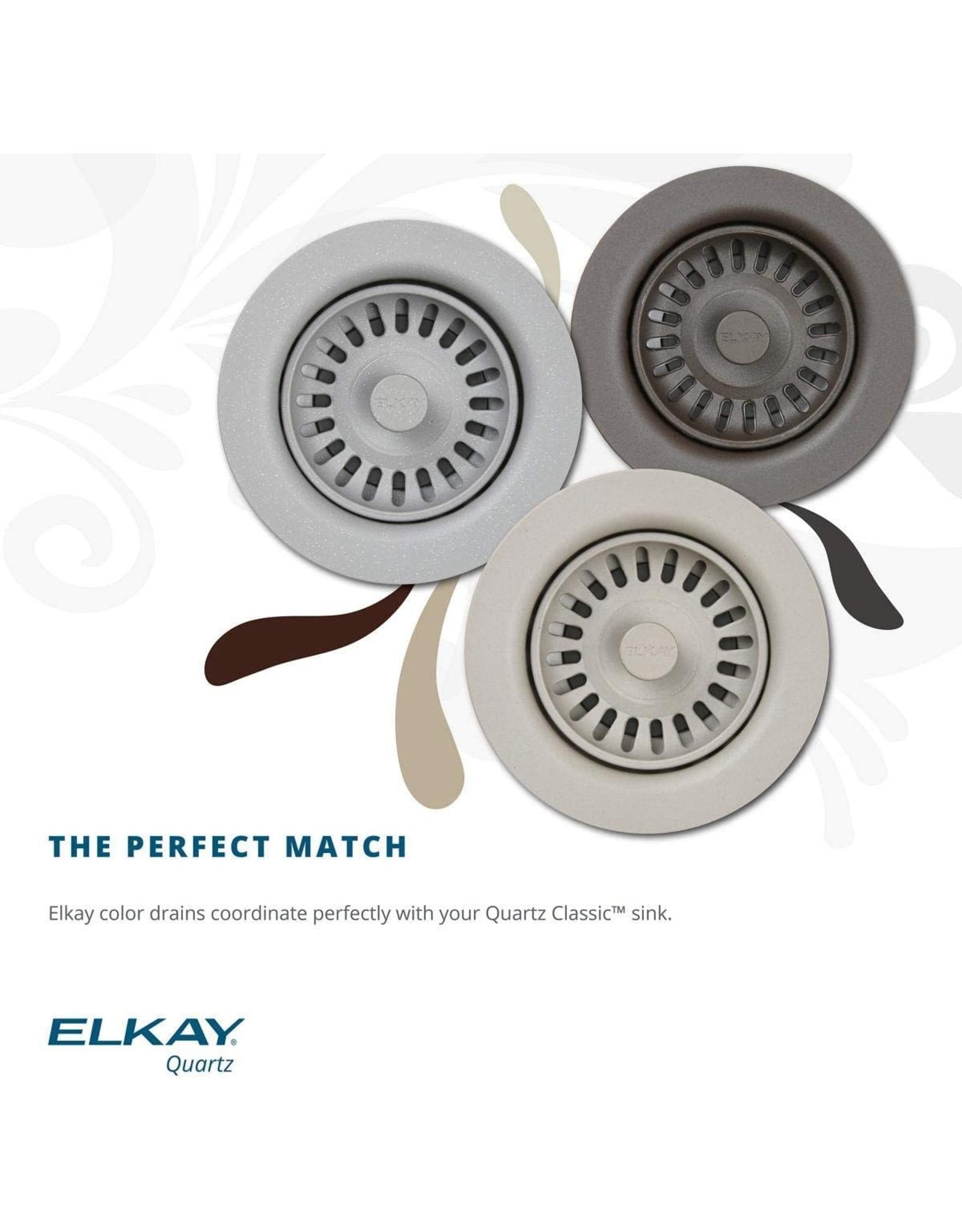 "Elkay Elkay Quartz Classic ELGU3322BK0C 33"" x 18-1/2"" x 9-1/2"", Equal Double Bowl Undermount Sink Kit, Black"