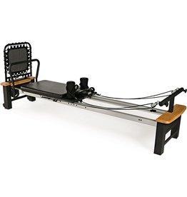 "Stamina AeroPilates Pro XP 556 Home Pilates Reformer with Free-Form Cardio Rebounder, Wood/Black/Silver, 94"" L x 23.5"" W x 15"" H"