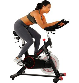 Sunny Health & Fitness Sunny Health & Fitness Magnetic Belt Drive Indoor Cycling Bike with 44 lb Flywheel and Large Device Holder, Black, Model Number: SF-B1805
