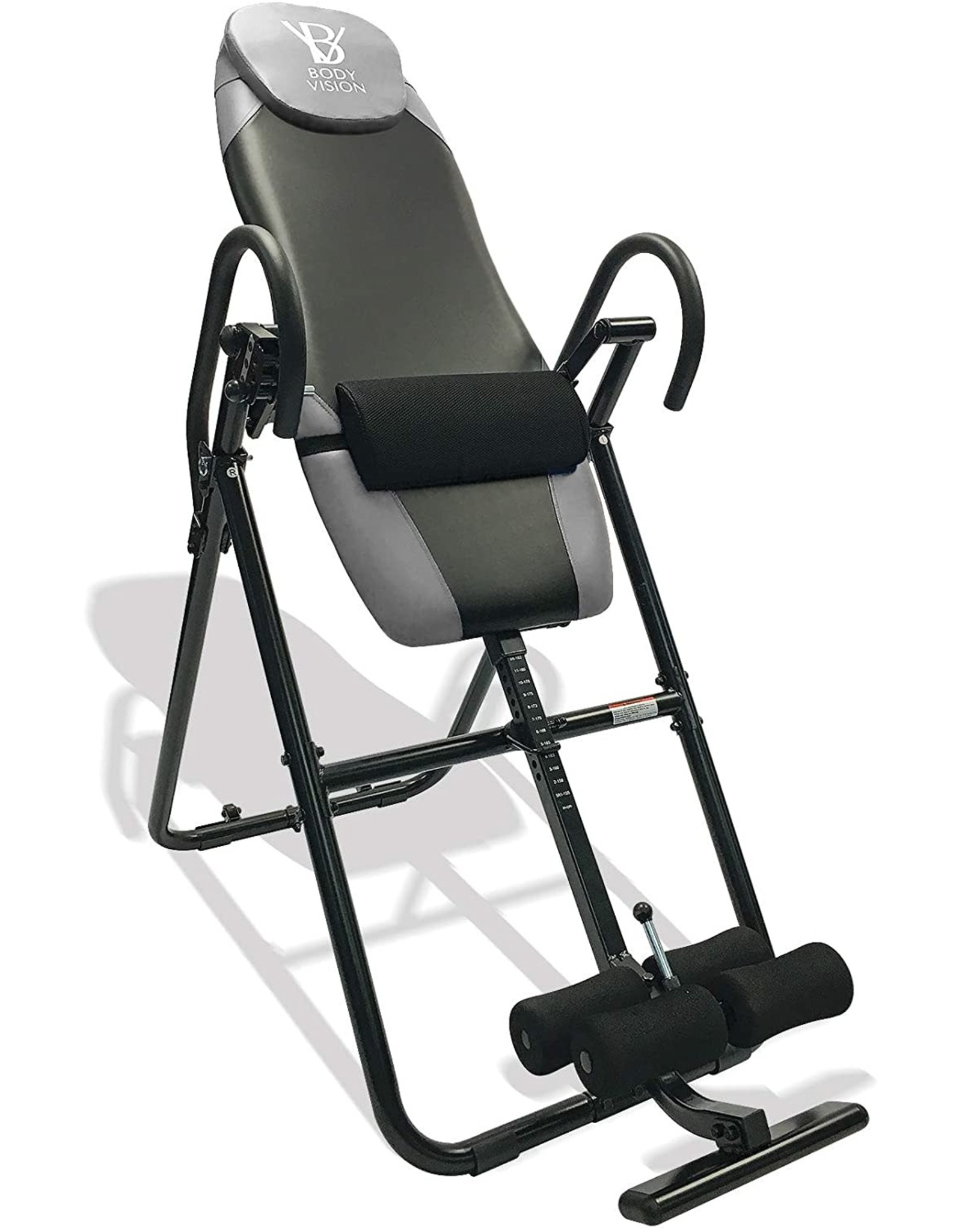 Body Vision Body Vision IT9825 Premium Inversion Table with Adjustable Head Pillow & Lumbar Support Pad- Heavy Duty up to 250 lbs
