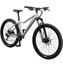 Mongoose Mongoose Tyax Sport Adult Mountain Bike, 27.5-Inch Wheels, Tectonic T2 Aluminum Frame, Rigid Hardtail, Hydraulic Disc Brakes, Womens Small Frame, White