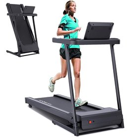 YODIMAN YODIMAN Folding Treadmill Electric Running Machine with 16'' Wide Tread Belt/LCD Display/Cup Holder, Easy Assembly for Home Use