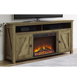 """Ameriwood Home Ameriwood Home Farmington Electric Fireplace TV Console for TVs up to 60"""", Natural -"""