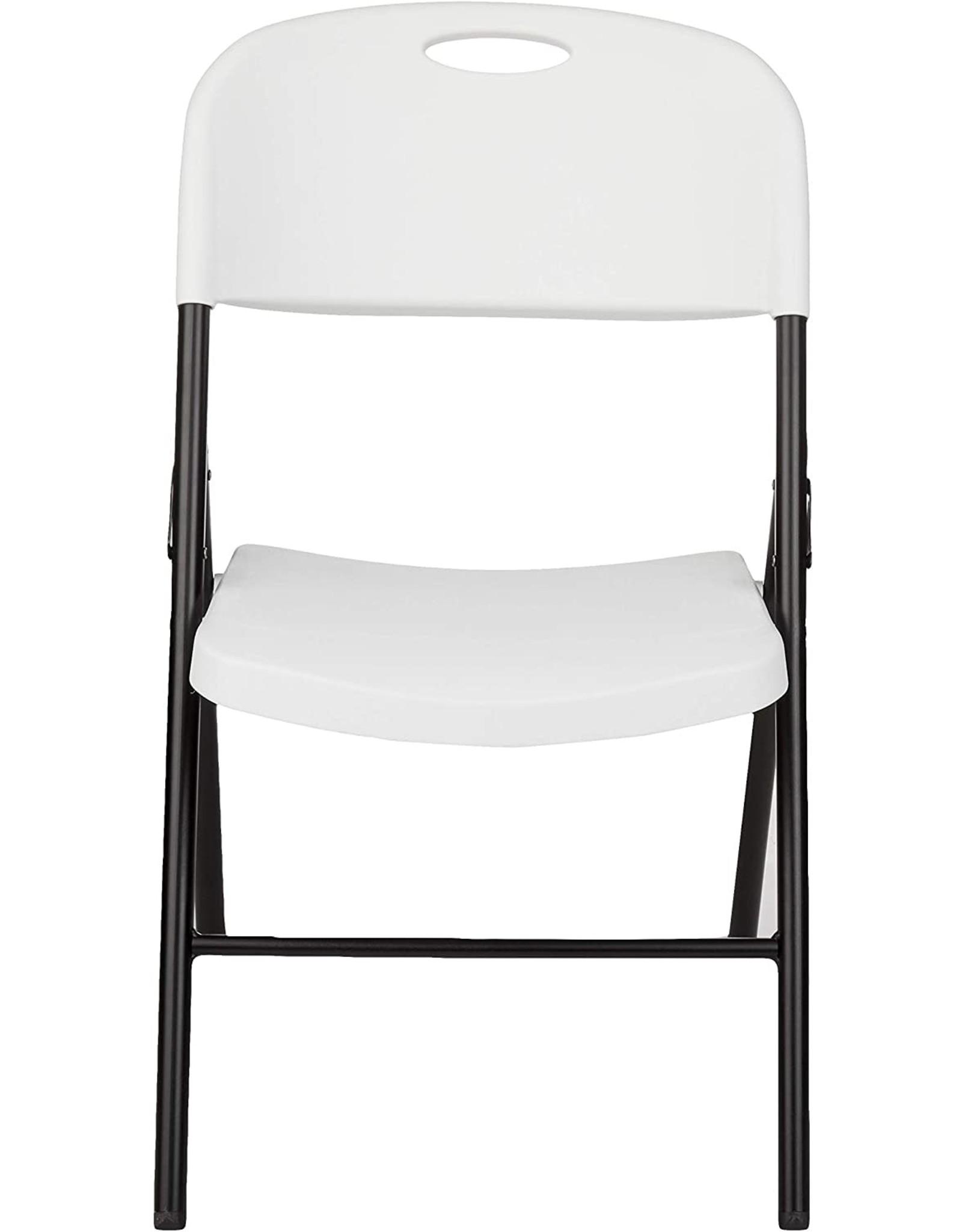 Amazon Basics Amazon Basics Folding Plastic Chair, 350-Pound Capacity, White, 6-Pack