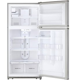 Winia WINIA WTE18HSSMD 18 Cu. Ft. Top Mount Refrigerator With Factory Installed Ice Maker - Fingerprint Resistant Metallic Finish