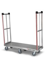 """Magliner Magline BDHK162 Aluminum Rapid Delivery Hand Truck, Removable Handle, Thermoplastic Wheels, Silver, 1200lbs Capacity, 18"""" Height, 60"""" Length x 18"""" Width"""