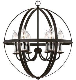 Westinghouse Lighting Westinghouse Lighting 6339000 Stella Mira Six-Light Outdoor Chandelier, Oil Rubbed Bronze