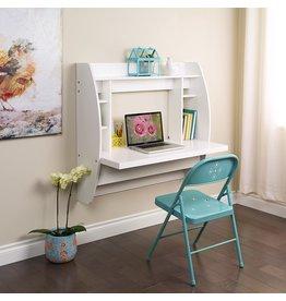 Prepac Prepac Floating Desk with Storage, White