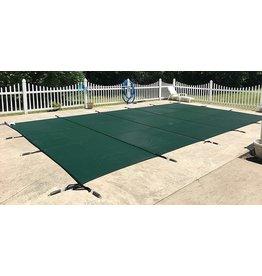 WaterWarden WaterWarden Inground Pool Safety Cover, Fits 18 x 40, Green Mesh