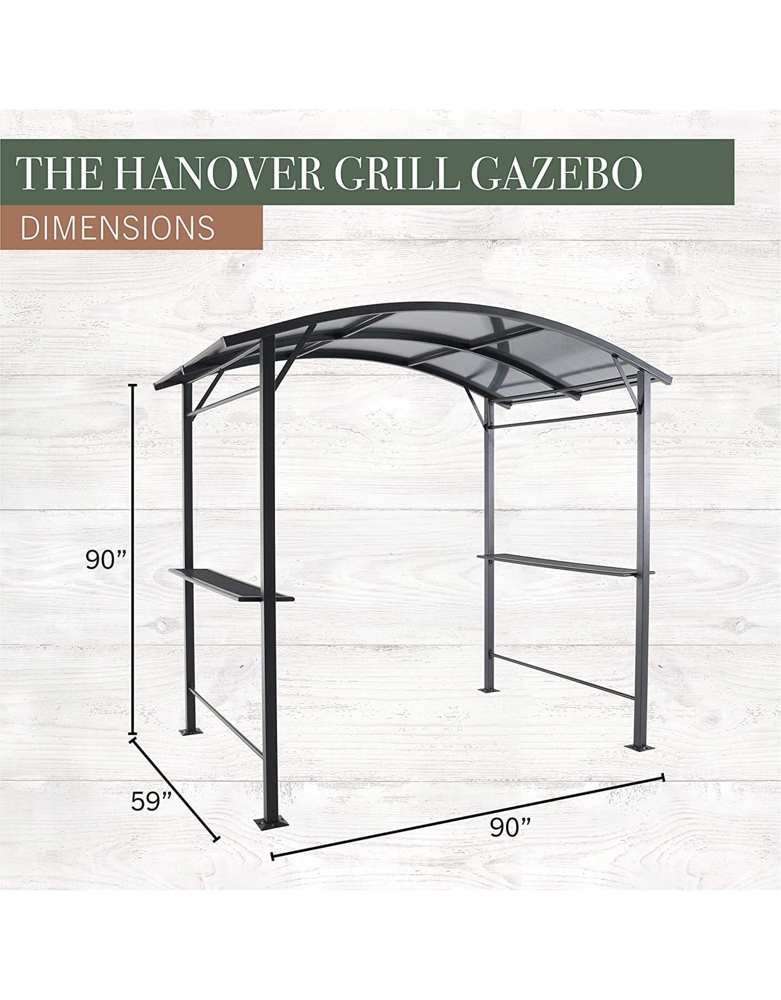 "Hanover Hanover HANGRGAZ-Gry Grill Gazebo 90"" x 59"" x 90"", Gray"