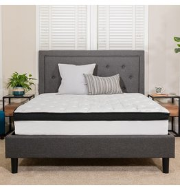 Flash Furniture Flash Furniture Capri Comfortable Sleep 12 Inch CertiPUR-US Certified Memory Foam & Pocket Spring Mattress, King Mattress in a Box