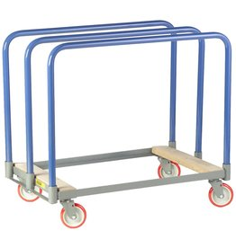 """Little Giant Little Giant PT-2436-5PY Steel Panel Truck with Swivel Casters and Wood End, 1000 lbs Load Capacity, 24"""" Width x 36"""" Length"""