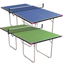 Butterfly Butterfly Junior Ping Pong Table  3/4 Size Table Tennis Table  Space Saver Game Table for Game Room  3/4 Size Small Ping Pong Table  3 Year  & Sturdy Frame  Ships Assembled with Net