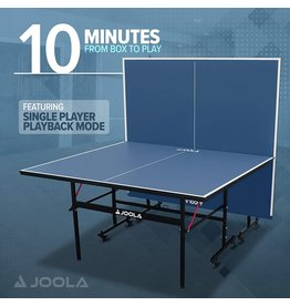 JOOLA JOOLA Inside - Professional MDF Indoor Table Tennis Table with Quick Clamp Ping Pong Net and Post Set - 10 Minute Easy Assembly - Ping Pong Table with Single Player Playback Mode
