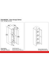 "Ameriwood Home Ameriwood Home Farmington Wide Storage Cabinet, 18"", Rustic Gray,7531196COM"