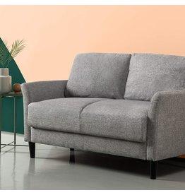 Zinus ZINUS Jackie Loveseat Sofa / Easy, Tool-Free Assembly, Soft Grey