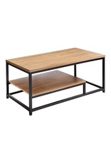 AZ L1 Life Concept AZL1 Life Concept AZ L1 Life Concept Metal Frame Coffee Table with Large Shelve Space, Neutral