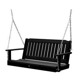 highwood Highwood AD-PORL1-BKE Lehigh Porch Swing, 5 Feet, Black