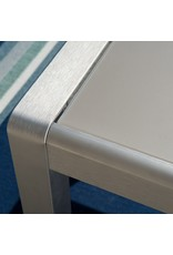 Christopher Knight Home Christopher Knight Home Cape Coral Outdoor Aluminum Dining Table with Tempered Glass Top, Grey