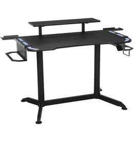 "RESPAWN RESPAWN 3010 Computer Ergonomic Height Adjustable Gaming Desk, in Blue (RSP-3010-BLU), 23.625 D x 52.625"" W x 33.5""-49.5"" H"