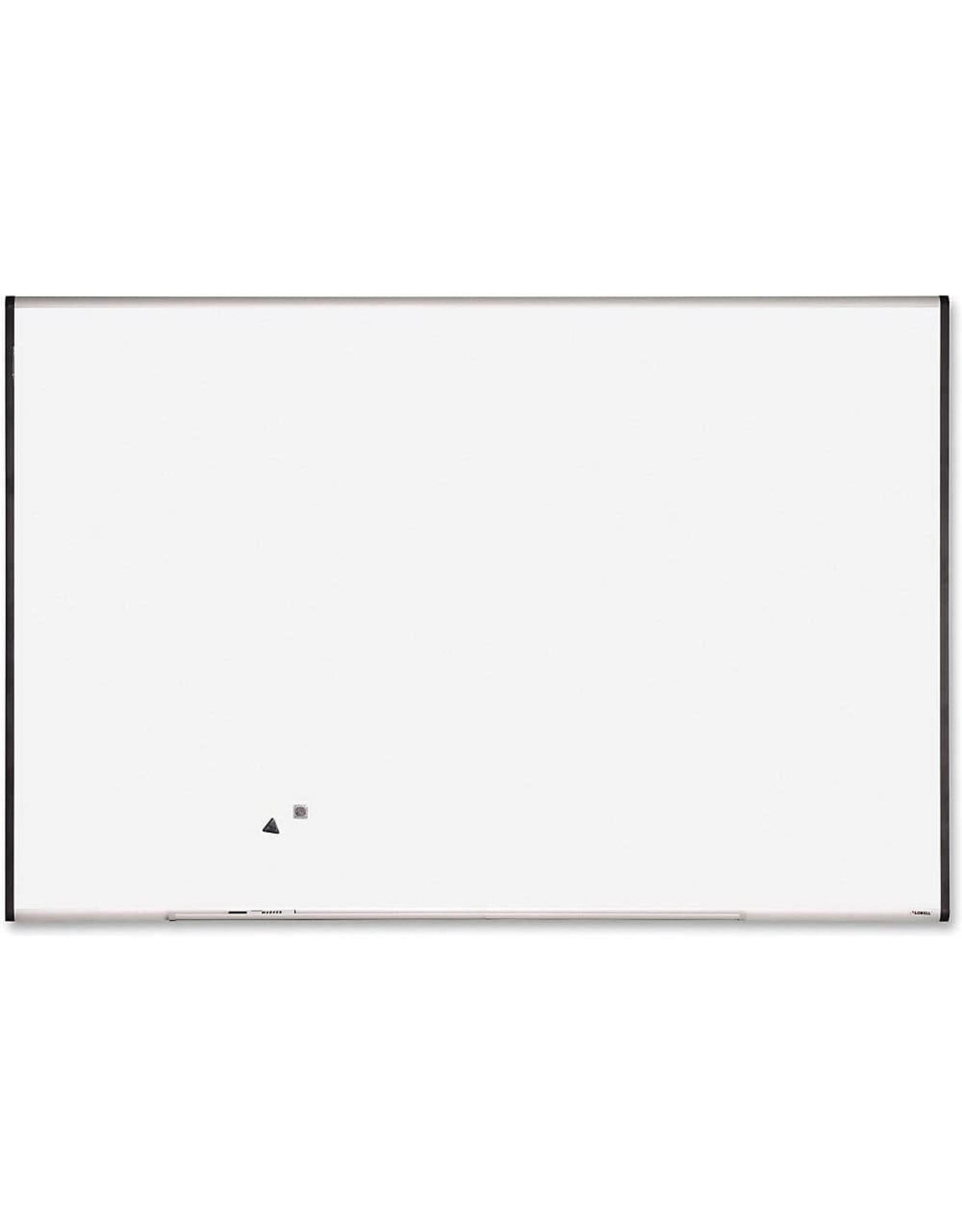 Lorell Lorell Magnetic Dry-Erase Board, 6-Feet by 4-Feet, Silver/Ebony