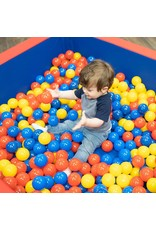Children's Factory Children's Factory-CF331-031 Corral Ball Pool for Toddlers & Kids, Indoor Outdoor Soft Foam Square Ball Pit, Baby Play Yard, Kiddie Dry Pool - Red, Blue