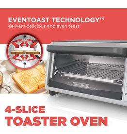 BLACK+DECKER BLACK+DECKER 4-Slice Countertop Toaster Oven, Stainless steel Silver TO1322SBD