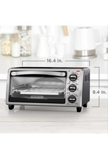 BLACK+DECKER Black+Decker TO1313SBD Toaster Oven, 15.47 Inch, Silver