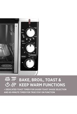 BLACK+DECKER BLACK+DECKER TO3250XSB 8-Slice Extra Wide Convection Countertop Toaster Oven, Includes Bake Pan, Broil Rack & Toasting Rack, Stainless Steel/Black