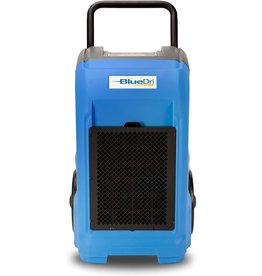 BlueDri BlueDri BD-76 Commercial Dehumidifier for Home, Basements, Garages, and Job Sites. Industrial Water Damage Equipment - Pack of 1, Blue