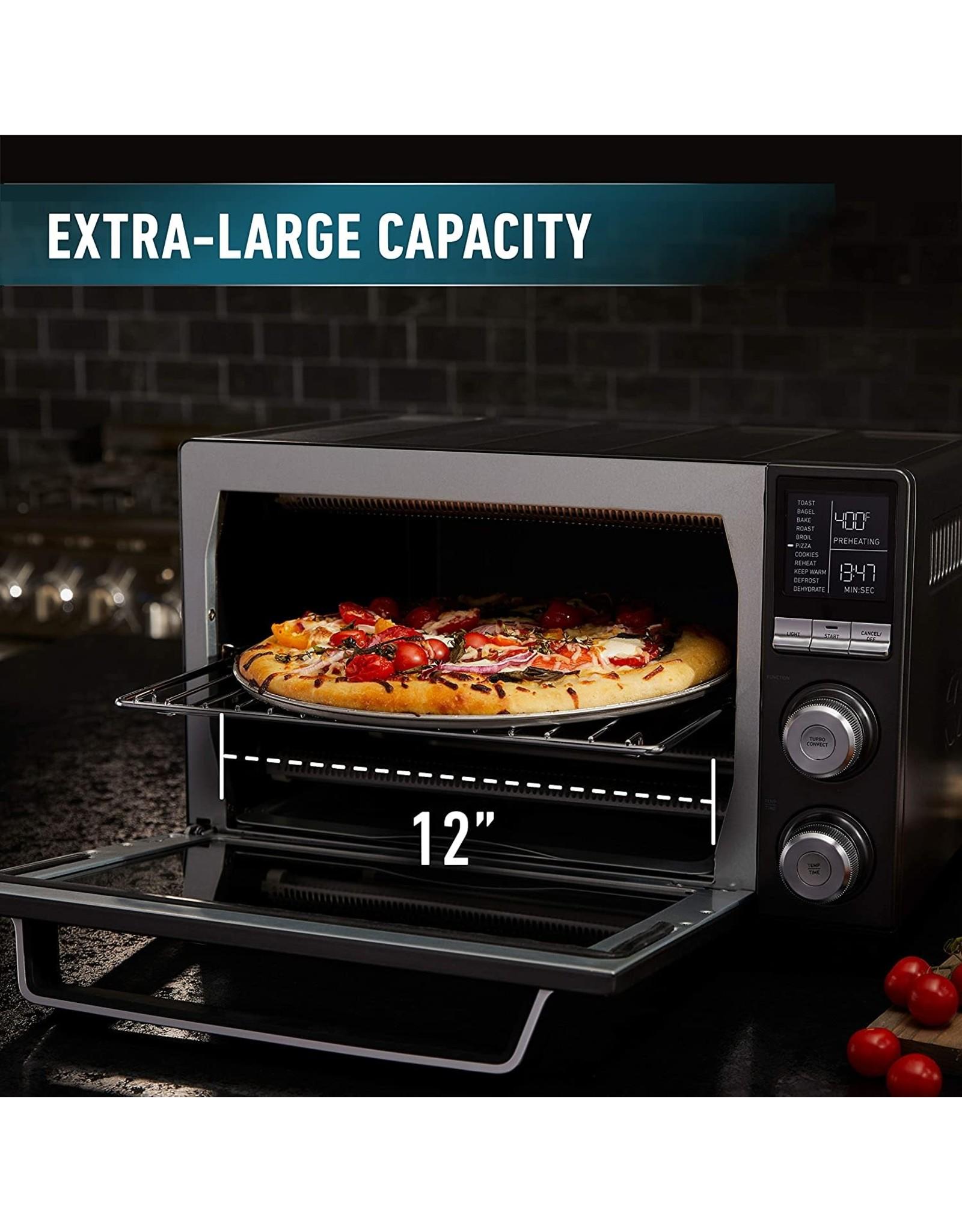 Calphalon Calphalon Quartz Heat Countertop Toaster Oven, Stainless Steel, Extra-Large Capacity, Black, Dark Gray
