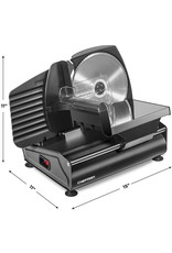 Chefman Chefman Die-Cast Electric Deli & Food Slicer, Cuts Meat, Cheese, Bread, Fruit & Vegetables, Adjustable Slice Thickness, Stainless Steel Blade, Safe Non-Slip Feet, For Home Use, Easy To Clean, Black